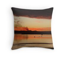 Raging Red Cane Fire Sunset Throw Pillow