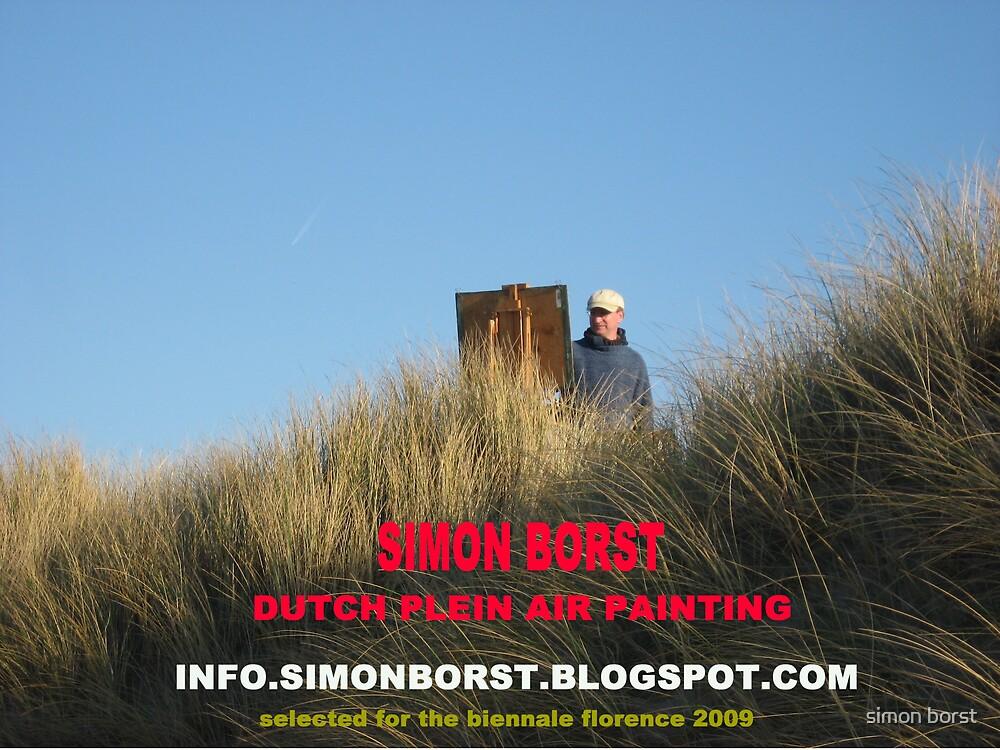 simon working plein air by simon borst