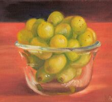 Green Grapes by LeftHandPrints