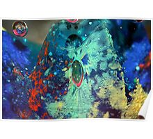 Rainbow Glass Bubbles Poster