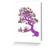 Purple Pine Bonsai  Greeting Card