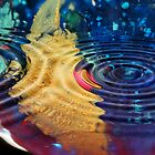 Rainbow Glass Ripples I by Lesley Smitheringale