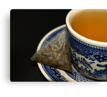 CUP OF GREEN TEA Canvas Print