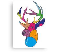 Patchwork Reindeer Canvas Print