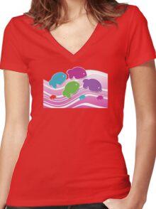 Koi Koi Carp TShirt Women's Fitted V-Neck T-Shirt