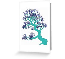 Turquoise Pine Bonsai Greeting Card