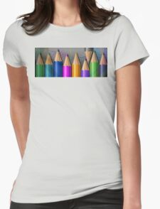 Color pencils Womens Fitted T-Shirt