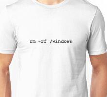 rm -rf /windows Unisex T-Shirt