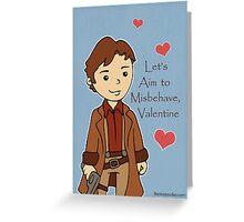 Firefly Mal Valentine Greeting Card