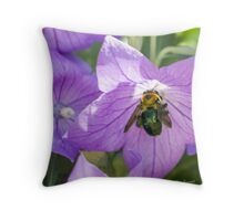 Bee's Purple Passion Throw Pillow