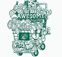 Super Awesome Veggies by GrimaceGraphics