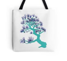 Turquoise Pine Bonsai Tote Bag