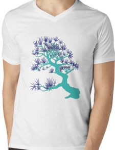 Turquoise Pine Bonsai Mens V-Neck T-Shirt