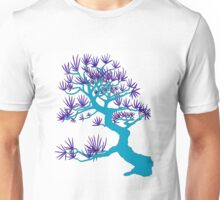 Light Blue Pine Bonsai Unisex T-Shirt