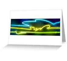 Color neon light tubes Greeting Card