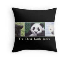 The Three Little Bears Throw Pillow
