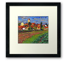 Village with red roof tiles Framed Print