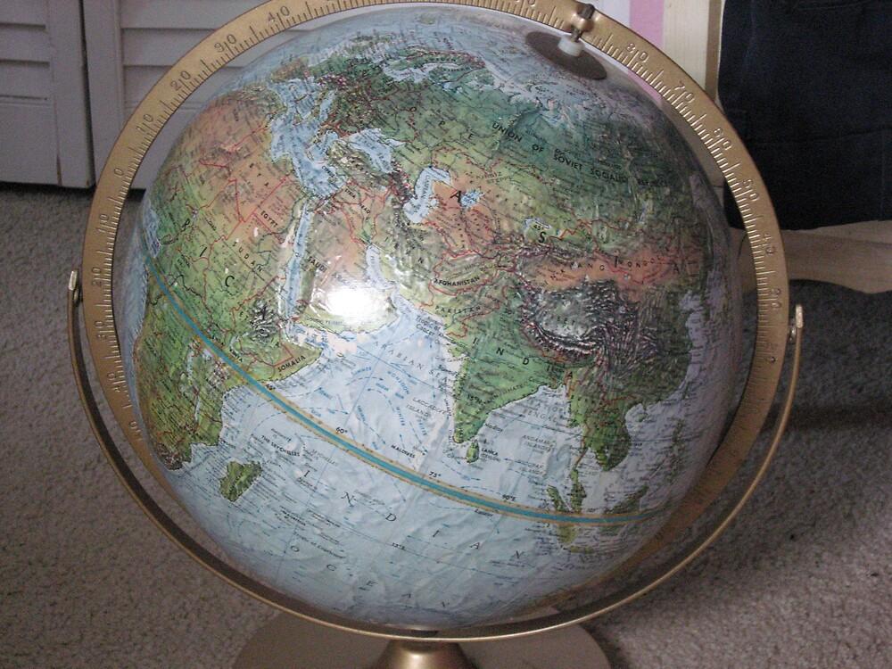 old globe by spiritedwings