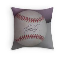 signed ball Throw Pillow