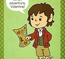 Bilbo Baggins Valentine by beckadoodles