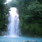 Rio Celeste (blue river) Waterfall by Guy Tschiderer
