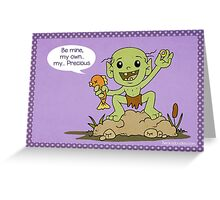 Gollum Valentine Greeting Card