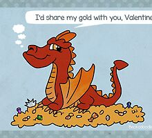 Smaug Valentine by beckadoodles