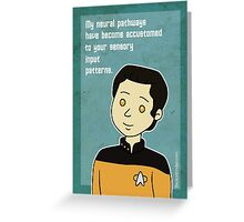 Star Trek Data Valentine Greeting Card