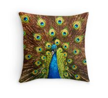 Peacock Showoff Throw Pillow