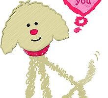 Cute Valentine's Day Goldendoodle by emrdesigns
