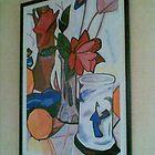 Deep red roses - Samuel John Peploe by christinawalker