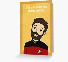 Star Trek Riker Valentine Greeting Card