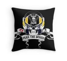 Fear the Bones Throw Pillow