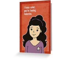 Star Trek Troi Valentine Greeting Card