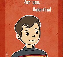 Star Trek Wesley Crusher Valentine by beckadoodles