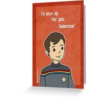 Star Trek Wesley Crusher Valentine Greeting Card