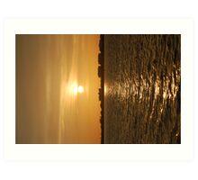 Warm Sun On The Water Art Print