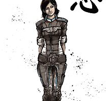 Samantha Traynor from Mass Effect game series by Mycks