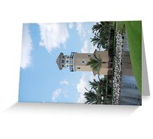 Lighthouse And Water Greeting Card