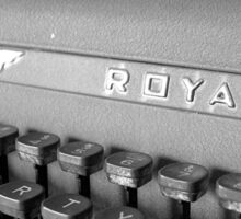 Vintage Royal Sticker