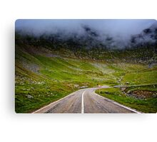 Winding road in mountains Canvas Print