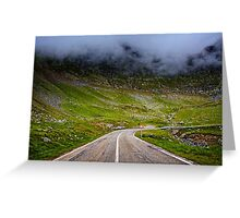 Winding road in mountains Greeting Card