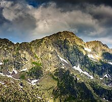 Fagaras mountains in Romania, Negoiu peak by naturalis