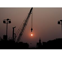 Sunset in busy city kolkata Photographic Print