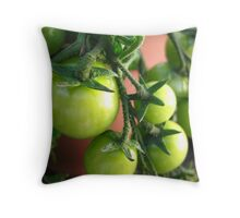 Green Tomatoes Throw Pillow