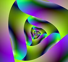 Triangular fractal by Objowl
