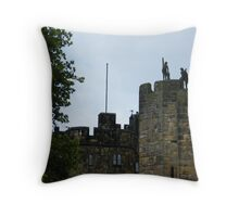 Alnwick Castle Turrets Throw Pillow