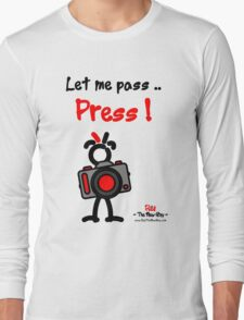 Red - The New Guy - Let me pass .. Press ! Long Sleeve T-Shirt