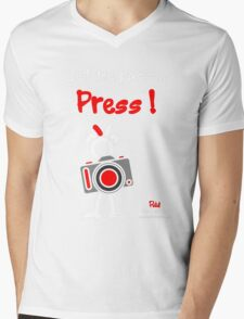 Red - The New Guy - Let me pass .. Press ! Mens V-Neck T-Shirt