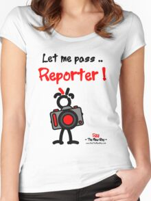 Red - The New Guy - Let me pass .. Reporter ! Women's Fitted Scoop T-Shirt
